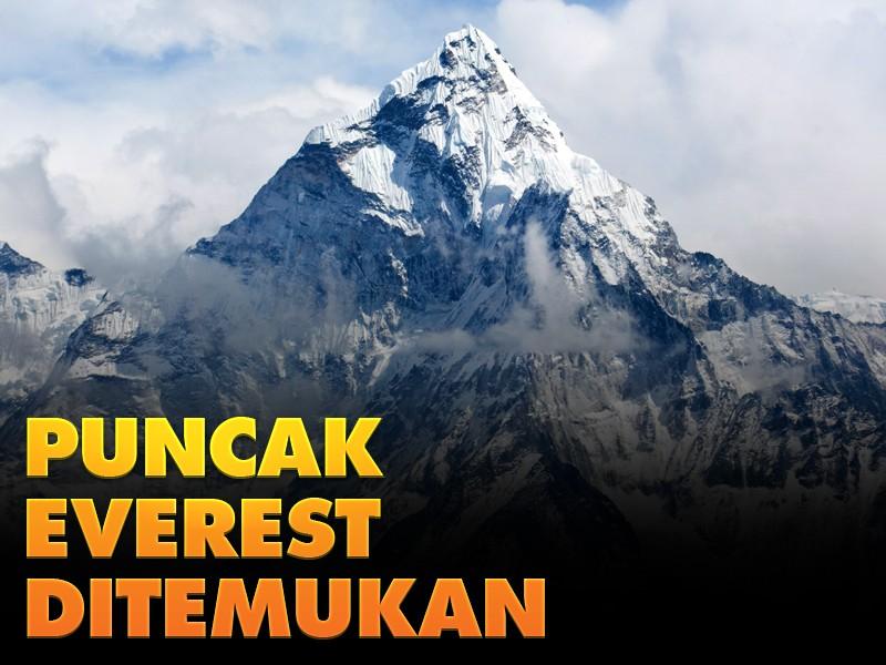 Hari Ini: Puncak Everest Ditemukan