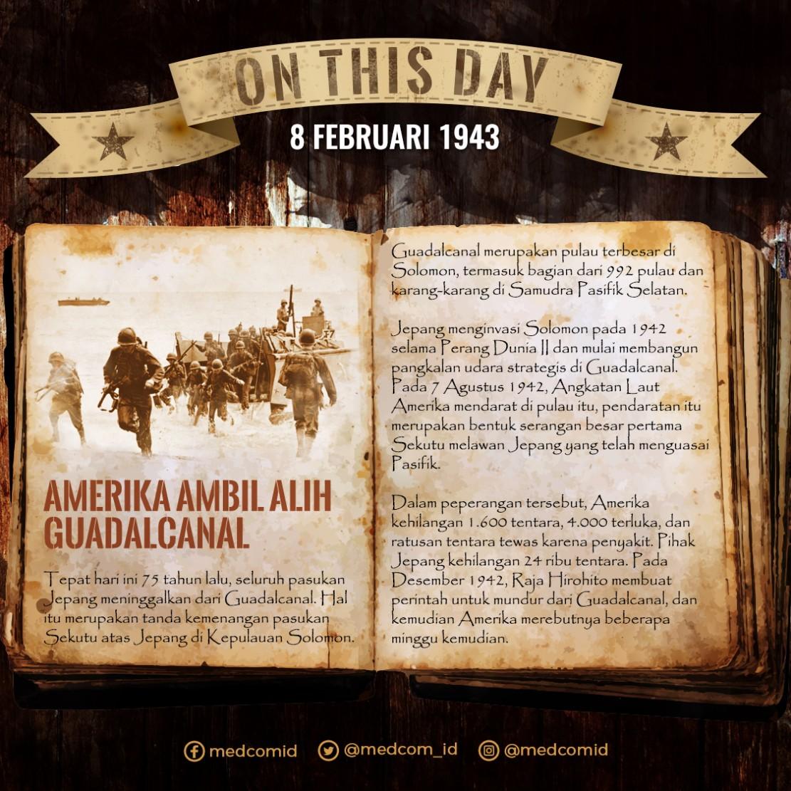 Hari Ini: Amerika Ambil Alih Guadalcanal