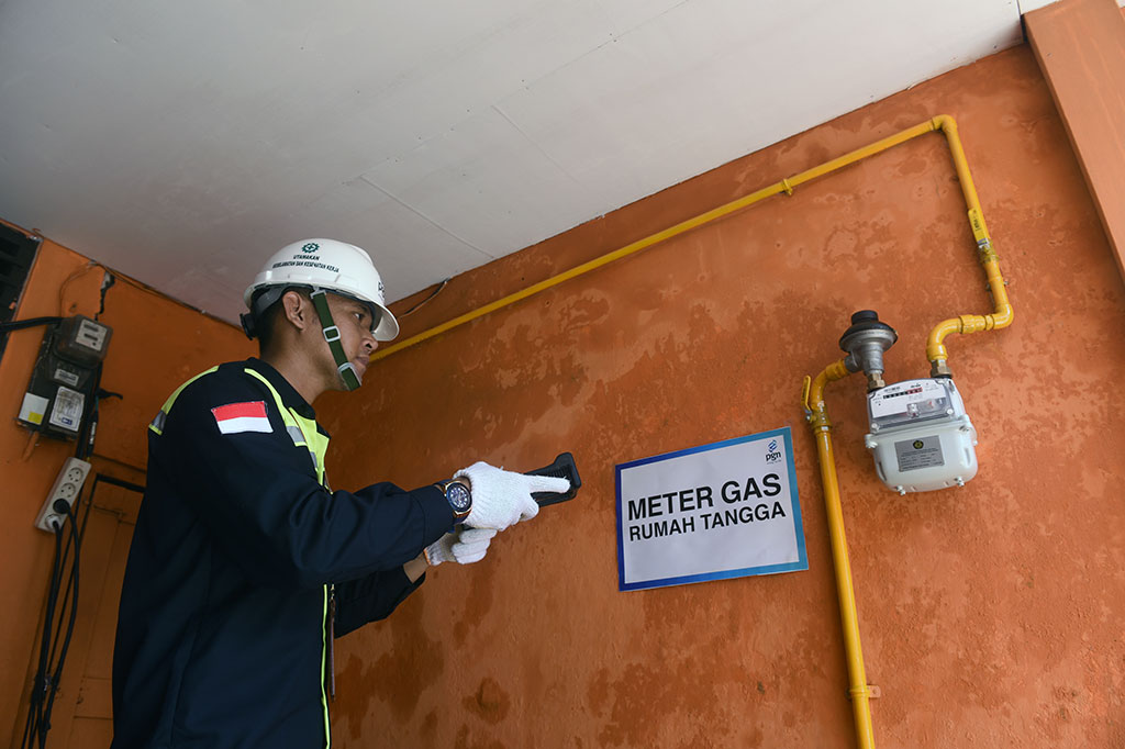 10 Ribu Rumah di Mojokerto Terhubung Jaringan Gas Bumi