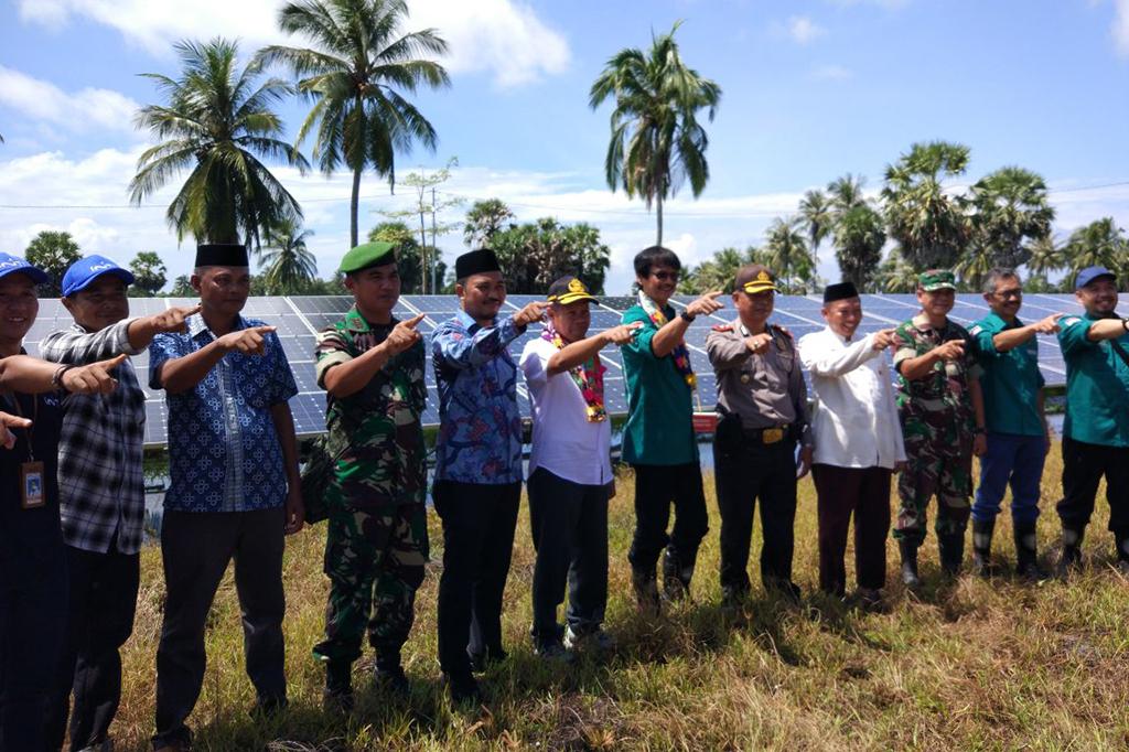 PLTS Terpusat 100 kWp di Desa Balang Datu Diresmikan