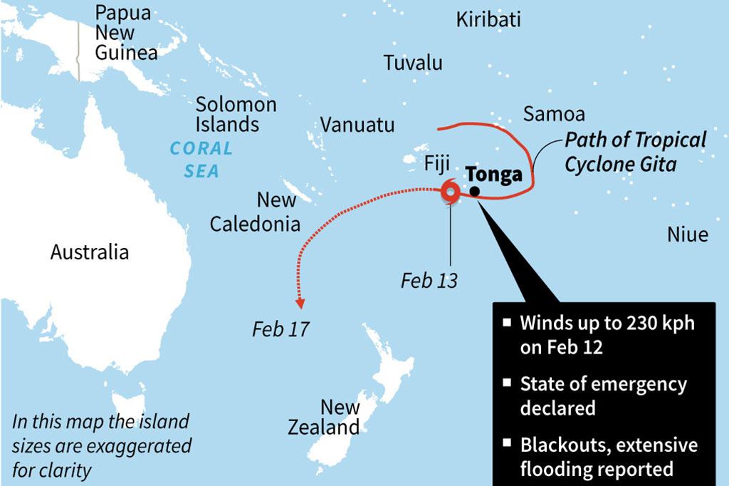 Topan Gita Sapu Tonga