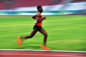 Lakshmanan Govindan berhasil menjadi yang tercepat dan berhak atas medali emas. ANTARA/Andika Wahyu