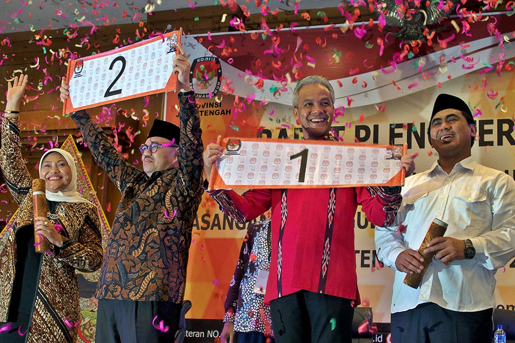 Ini Nomor Urut Pilgub Jawa Tengah