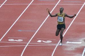 Pushpalrumara berhasil mencatatkan waktu 8:59.70 dan berhak atas medali emas. ANTARA/Widodo S Jusuf