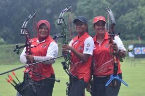 Tim compound putri yang terdiri dari Rina Siska Sari, Triya Resky Andriyani dan Yurike Nina Bonita, sukses mengandaskan upaya perlawanan Taiwan dengan skor 220-211.