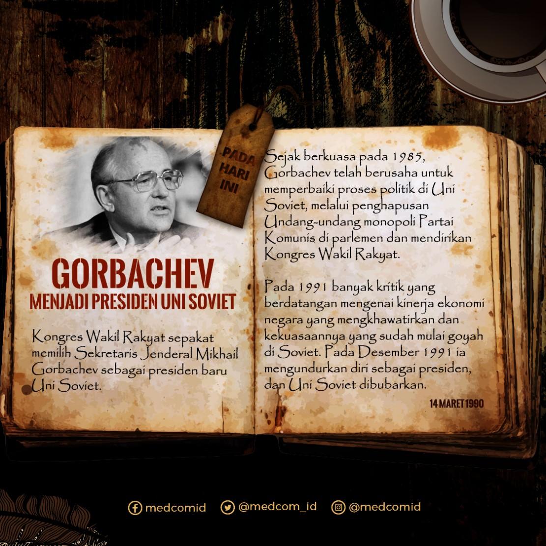 Hari ini: Gorbachev Menjadi Presiden Uni Soviet