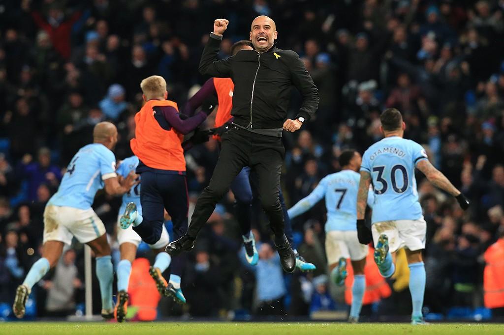 Ekspresi Kebahagiaan Man City Juara Liga Inggris