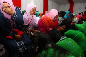 Kegiatan bertema 'Tetap Ceria Meraih Asa' yang dipusatkan di LPKA Kelas 1A Tangerang itu bertujuan menumbuhkan rasa kasih sayang, kepedulian terhadap sesama, dan hormat kepada orangtua, serta tetap ceria dalam meraih masa depan. ANTARA/Muhammad Iqbal