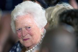 Barbara dilaporkan menolak dirawat setelah kesehatannya menurun dalam beberapa hari terakhir. Dia lebih memilih menghabiskan waktunya bersama keluarga. AFP/Jim Watson