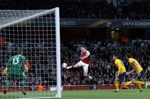 Arsenal menyia-nyiakan sejumlah peluang untuk menjebol gawang Atletico yang dijaga Jan Oblak.