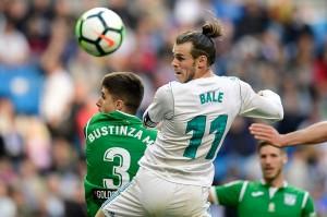 Gareth Bale yang turun sejak menit awal mencetak gol pertama untuk Real Madrid.
