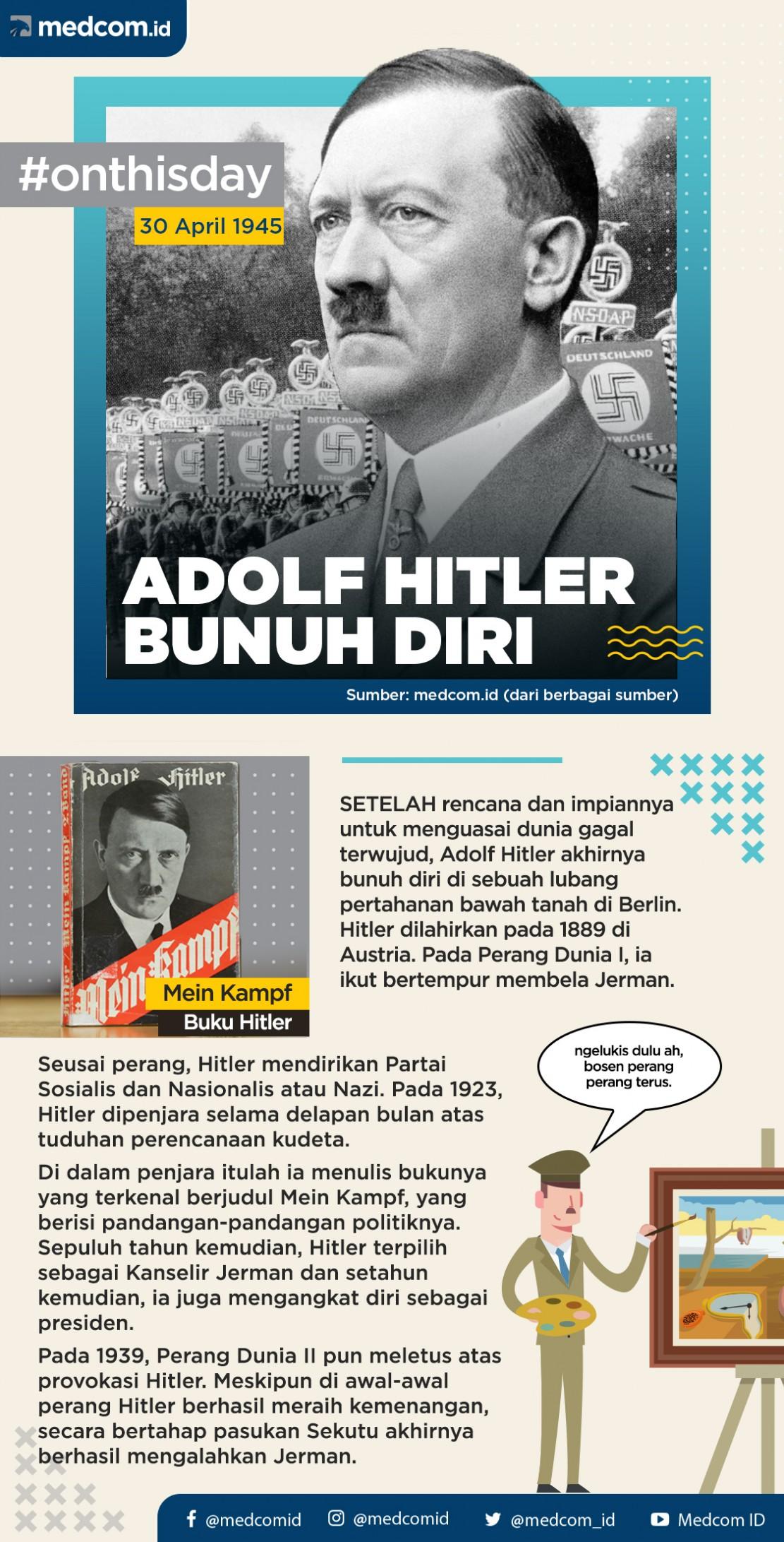 Pada Hari Ini: Adolf Hitler Bunuh Diri