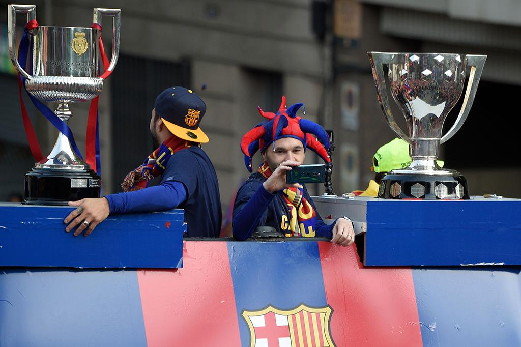 Kemeriahan Perayaan Gelar Ganda Barcelona