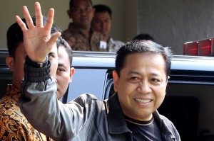 Sebelum dieksekusi ke Lapas Sukamiskin, mantan Ketua DPR Setya Novanto pamit.
