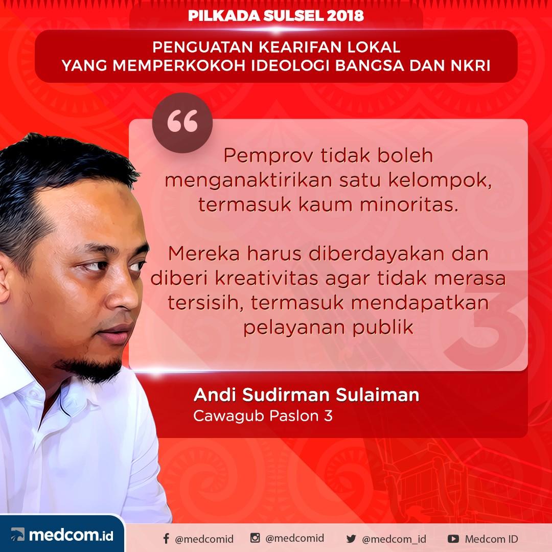 Debat Pilkada 2018: Sulawesi Selatan, Pasangan Calon Nomor Urut 3