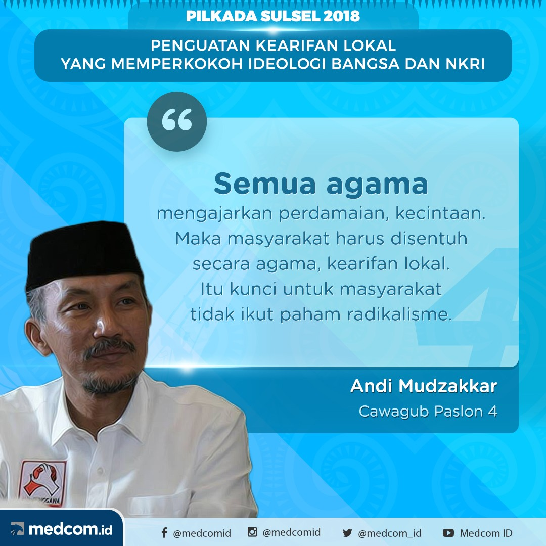 Debat Pilkada 2018: Sulawesi Selatan, Pasangan Calon Nomor Urut 4