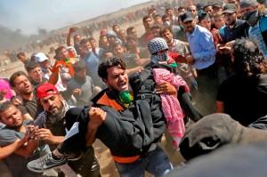 Pasukan Israel menembak mati 55 warga Palestina saat sedang ikut serta dalam demonstrasi menolak pemindahan Kedutaan Besar AS dari Tel Aviv ke Jerusalem. Sementara itu 2.771 orang terluka akibat kejadian tersebut.