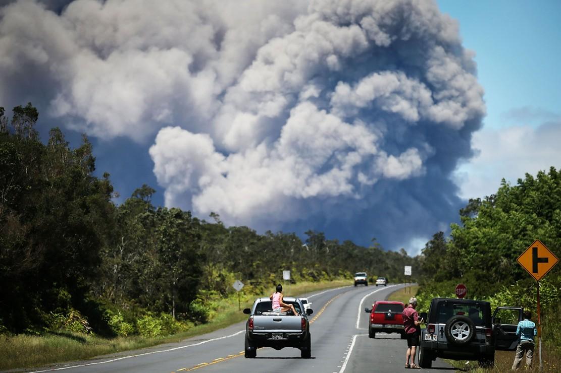 Gunung Kilauea di Hawaii, erupsi sejak Selasa (15/5) waktu setempat.