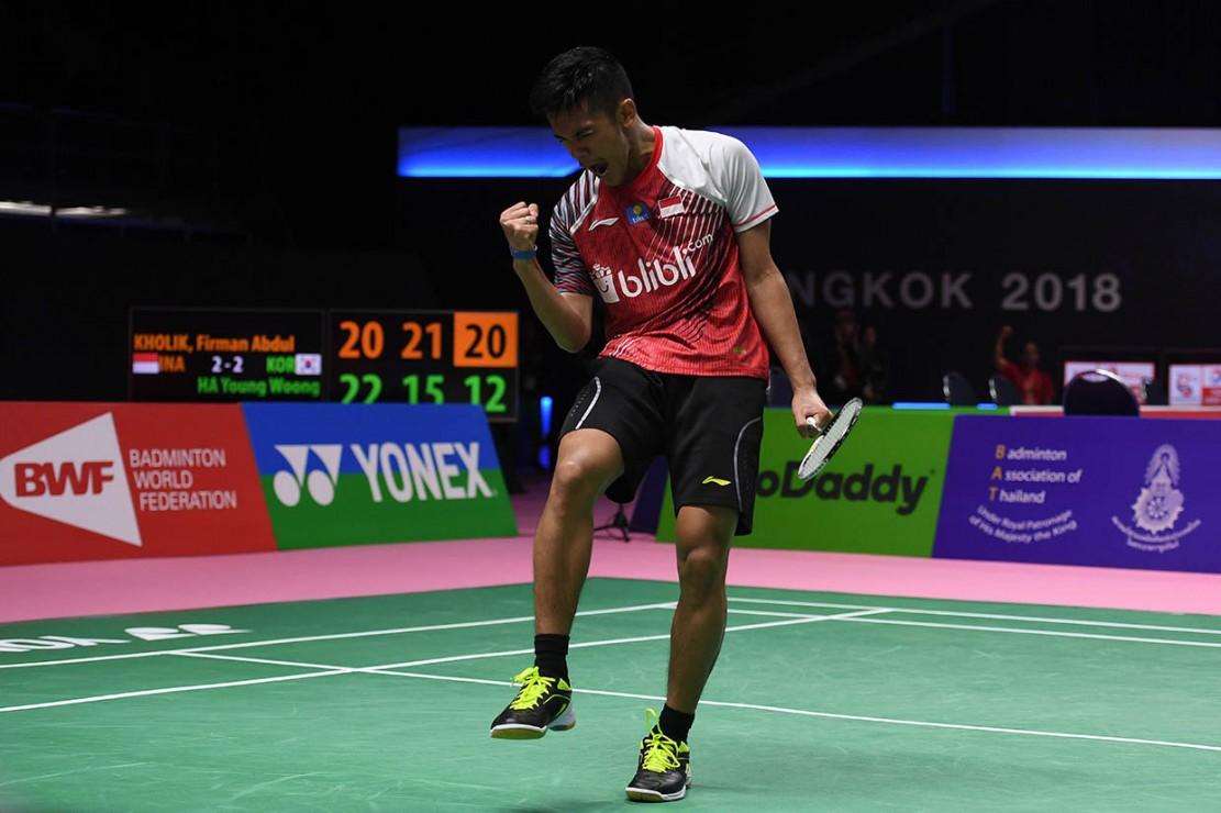 Kemenangan Firman atas Ha mengubah kedudukan menjadi 3-2 untuk Indonesia, sekaligus melangkah ke perempat final Piala Thomas 2018 sebagai juara Grup B.