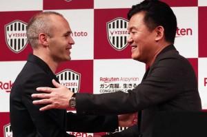 Iniesta akan bergabung dengan mantan striker Jerman Lukas Podolski, yang telah terlebih dahulu membela Vissel Kobe.