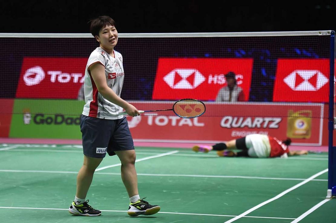 Sebelumnya, Jepang meraih poin pertama lewat tunggal Akane Yamaguchi yang mengalahkan Ratchanok Intanon dua gim langsung 21-15, 21-19.
