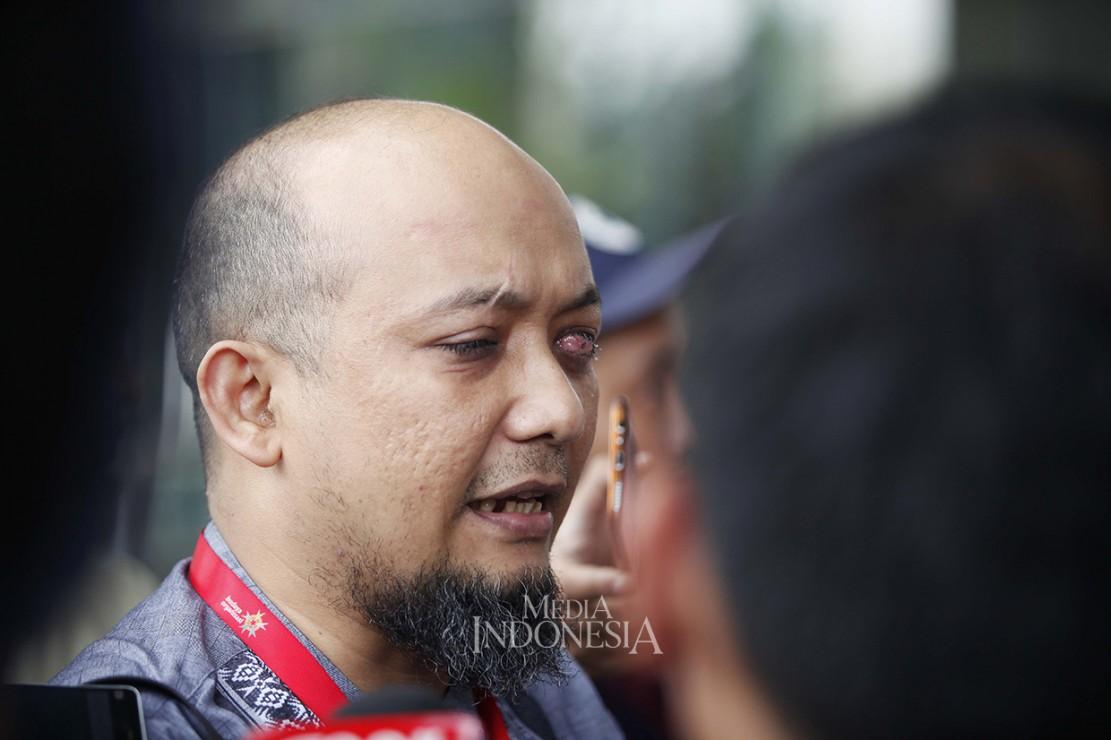 Hal itu Novel sampaikan saat mengunjungi gedung KPK, Jakarta untuk melakukan serah terima jabatan Ketua Wadah Pegawai KPK.