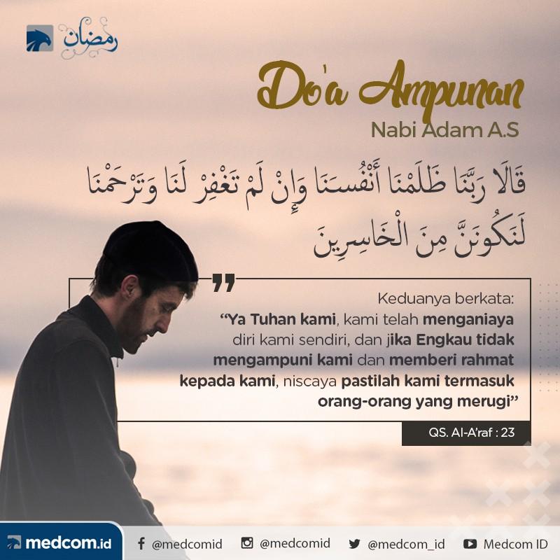 Quotes Ramadan: Doa Nabi Adam Ketika Memohon Ampunan