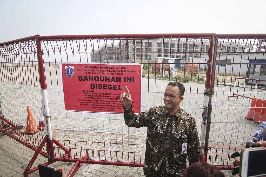 Anies Pimpin Penyegelan Pulau Reklamasi