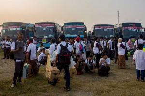 Sebanyak 62 BUMN bekerja sama dalam Program Mudik Bareng BUMN 2018 yang memberangkatkan 206.209 pemudik atau naik 74,43 persen dari tahun sebelumnya dengan armada bus sebanyak 3.490 unit, 98 kapal laut, 37 kereta api, serta 52 penerbangan dengan 177 kota tujuan di seluruh Indonesia.