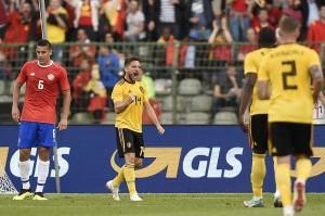 Enam menit kemudian Belgia berhasil menyamakan kedudukan menjadi 1-1 lewat Dries Mertens.