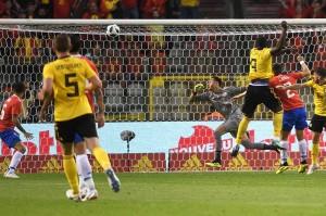 Lukaku kembali mencatatkan namanya di papan skor untuk membawa Belgia unggul 3-1 pada menit ke-50. Tandukannya menyambut umpan silang Nacer Chadli gagal diantisipasi kiper Keylor Navas.