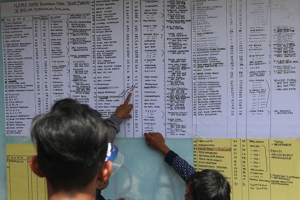 Sementara itu, jumlah korban tewas dilaporkan menjadi 3 orang. Korban selamat disebutkan berjumlah 19 orang. Antara Foto/Irsan Mulyadi