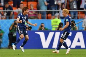 Jepang kemudian menyamakan kedudukan menjadi 1-1 pada menit ke-34 lewat tembakan melengkung Takashi Inui.
