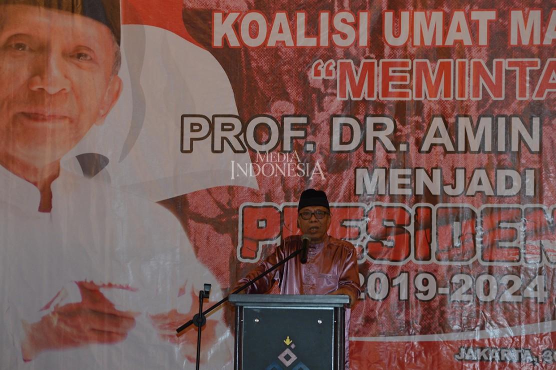 Koalisi ini mengaku mendukung Amien Rais menjadi calon presiden, karena ingin menggalang tokoh oposisi berbasis umat.