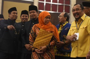 KPU Jawa Timur menetapkan Khofifah Indar Parawansa dan Emil E Dardak sebagai Gubernur dan Wakil Gubernur terpilih Pilgub Jawa Timur 2018.
