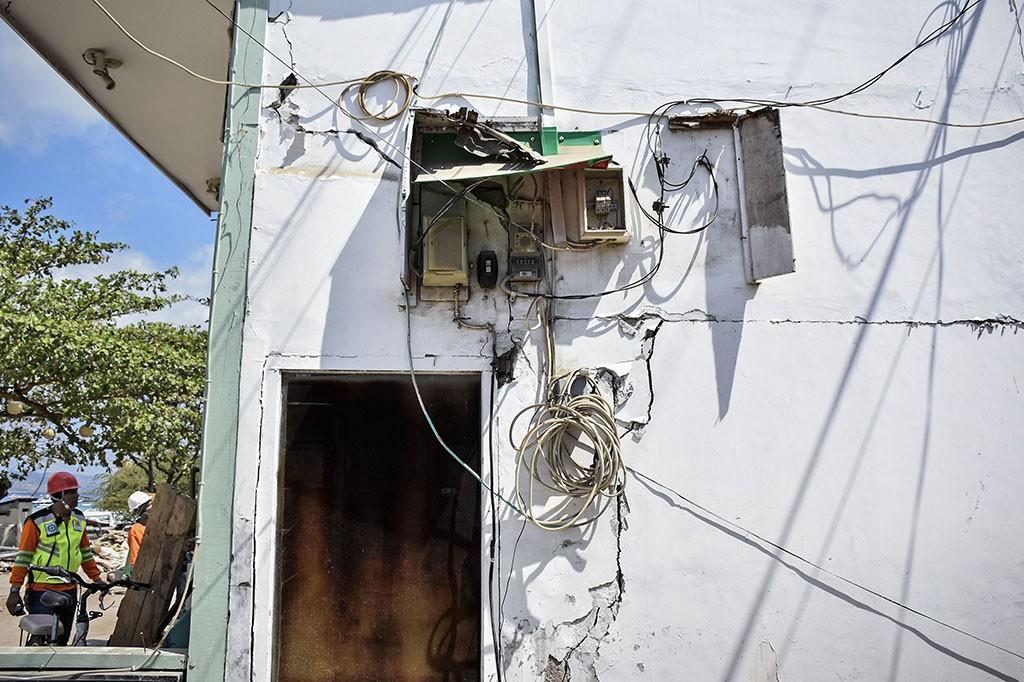 Kondisi Kerusakan Gili Trawangan Akibat Gempa