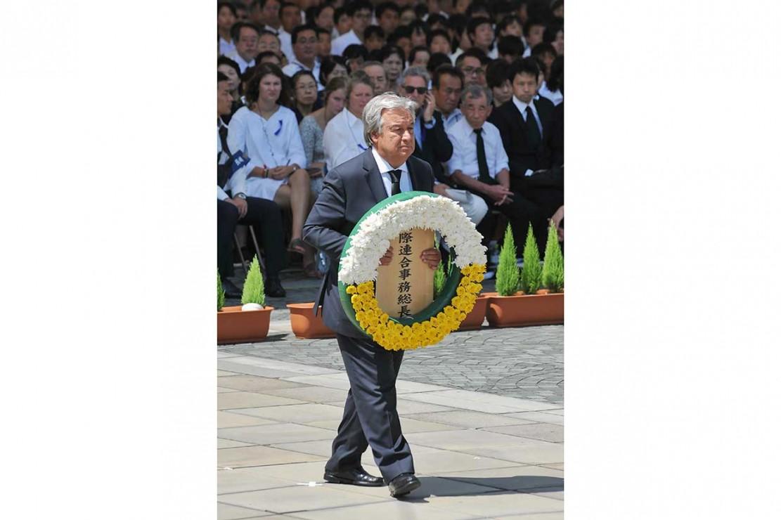 Sekjen PBB Hadiri Peringatan Bom Atom Nagasaki