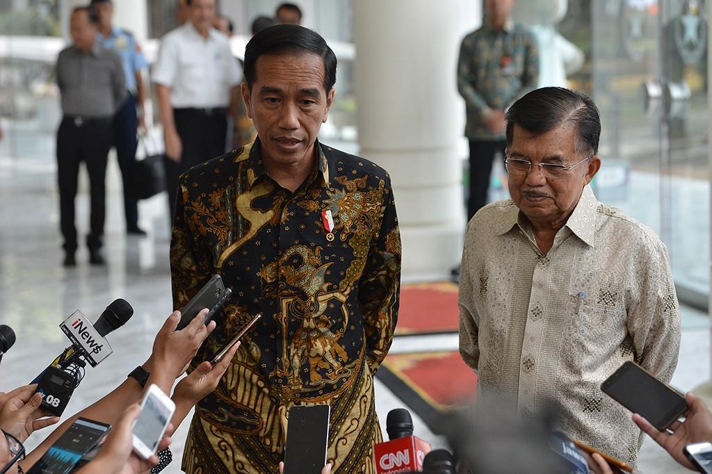 Presiden Jokowi mengaku menemui Kalla untuk memberitahukan rencana pendaftaran capres-cawapres untuk Pilpres 2019.