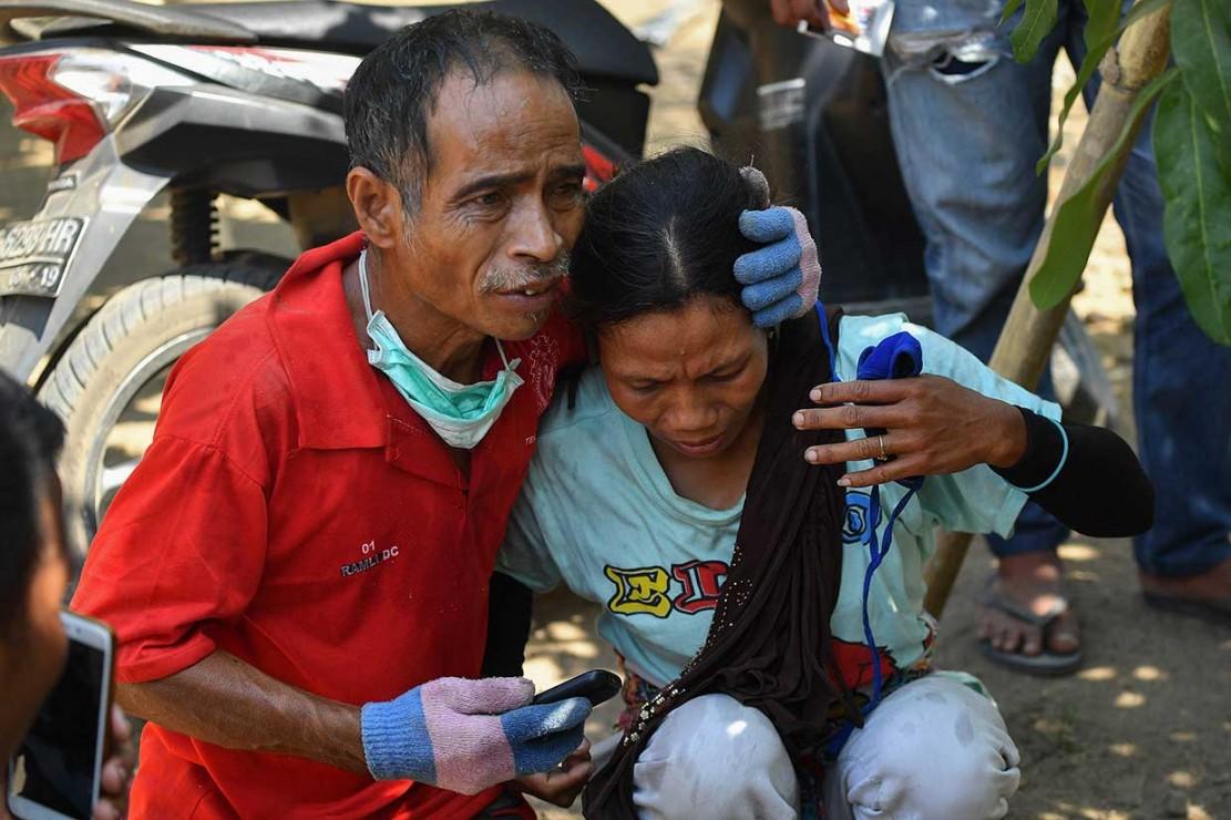 Kepanikan Warga Saat Gempa Susulan Guncang Lombok