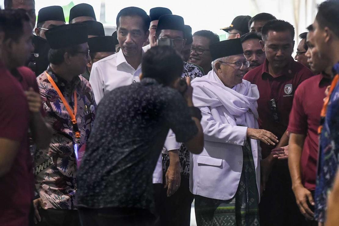 Jokowi-Ma'ruf Amin Tiba di Gedung KPU