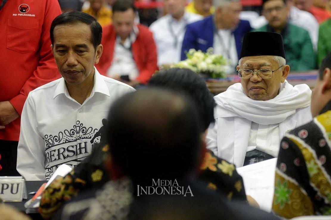 Jokowi-Ma'ruf Serahkan Berkas Syarat Pencalonan