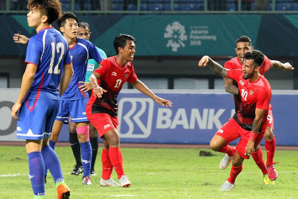 Timnas Indonesia U-23 Gilas Taiwan 4-0 di Asian Games 2018