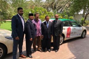 Acara tersebut dihadiri Duta Besar RI untuk Uni Emirat Arab Husin Bagis, Konsul Jenderal RI Dubai Ridwan Hassan, dan Branch Controller APP Dubai Arvind Gupta. Turut hadir sejumlah pejabat dan staf dari perusahaan APP, Synergy Arabia, Nishat General Company, dan KJRI Dubai.
