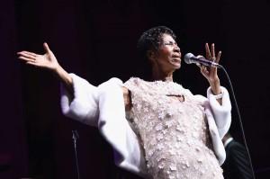 Penampilan terakhir Franklin adalah pada 7 November 2017. Saat itu, ia menyanyi di acara Yayasan AIDS Elton John. AFP Photo/Getty Images/Dimitrios Kambouris