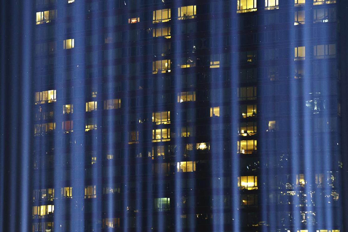 Penghormatan 17 Tahun Tragedi WTC, Langit New York Bersinar