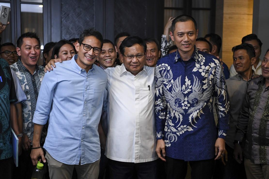 Prabowo-Sandiaga Temui SBY