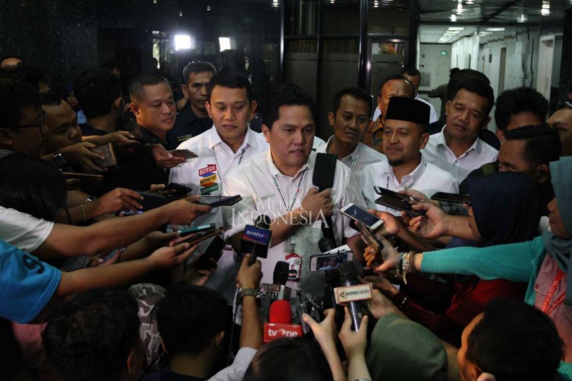 Erick Thohir: TKN Jokowi-Ma'ruf Hindari Kata-kata Pertarungan