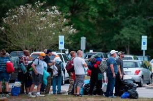 Ribuan penduduk yang bermukim di sepanjang garis pantai Virginia, Carlonia Utara dan Carolina Selatan diungsikan ke tempat yang lebih aman menjelang datangnya badai Florence yang diperkirakan akan menghantam kawasan tersebut pada Jumat, 14 September 2018. AFP/Andrew Caballero-Reynolds