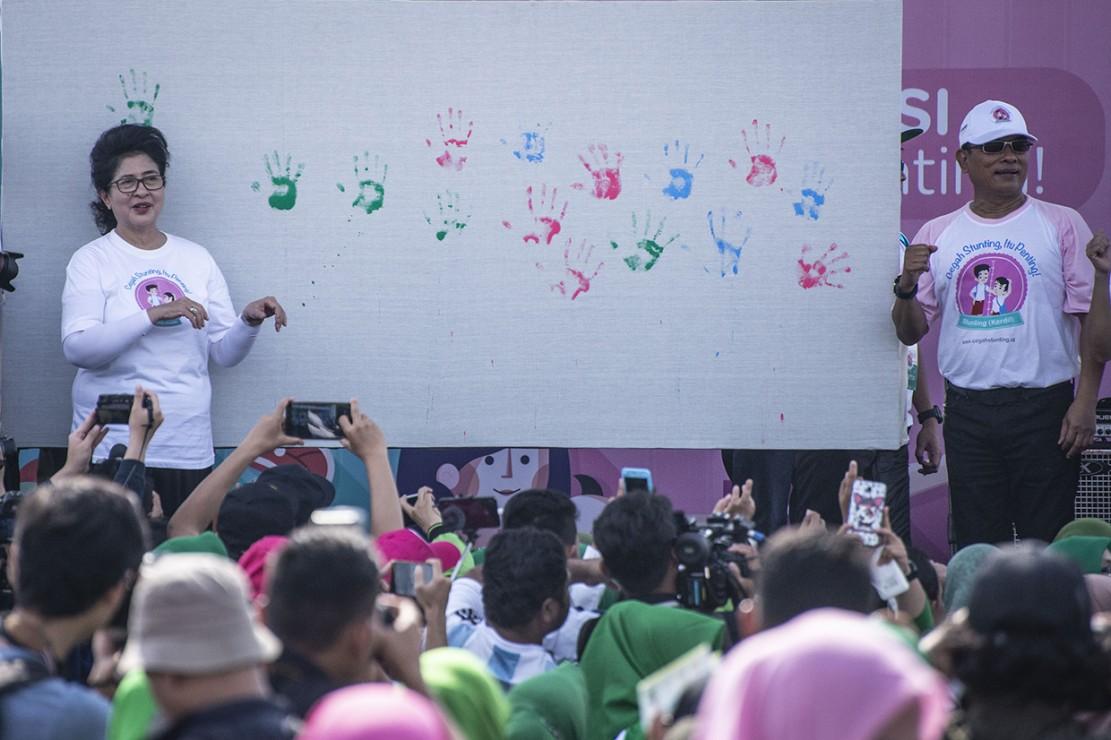 Ratusan Orang Ikuti Kampanye Cegah Stunting di Monas