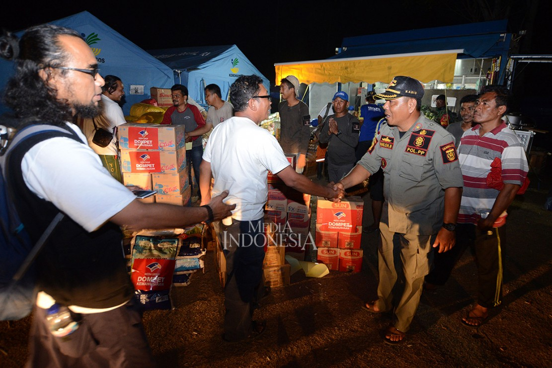 Media Group Salurkan Bantuan Gempa Sulteng